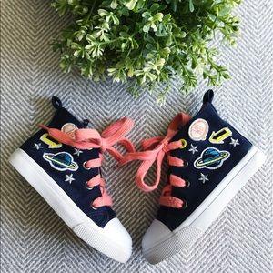 CAT & JACK Space Patch Zipper Hightop Sneakers
